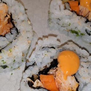 Buffalo Chicken Sushi Roll.
