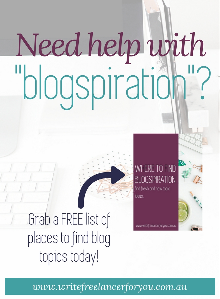 blog ideas, blog topics, blogspiration