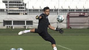 René Román en el entrenamiento de este viernes.