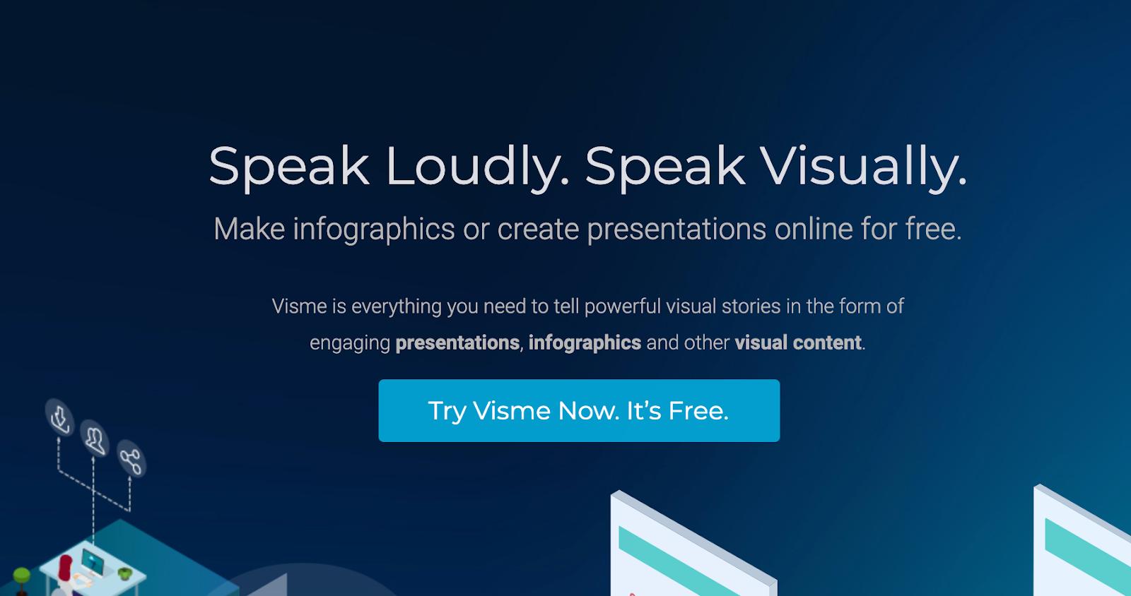 Visme Website