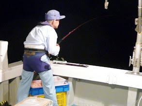Photo: よっこいしょ!のクマガイさんも好調! ・・・しかし、ここからサメの猛攻に。