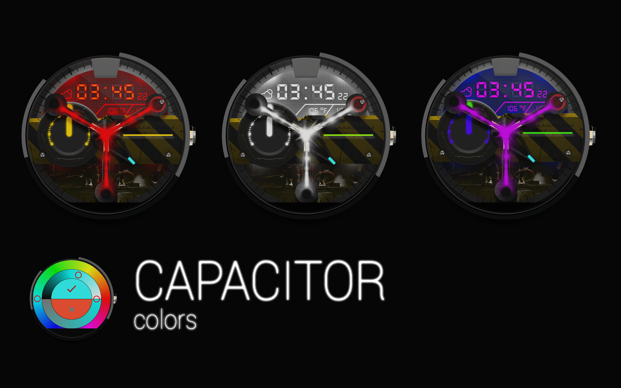 Facer android wear - Capacitor Watch Face Screenshot