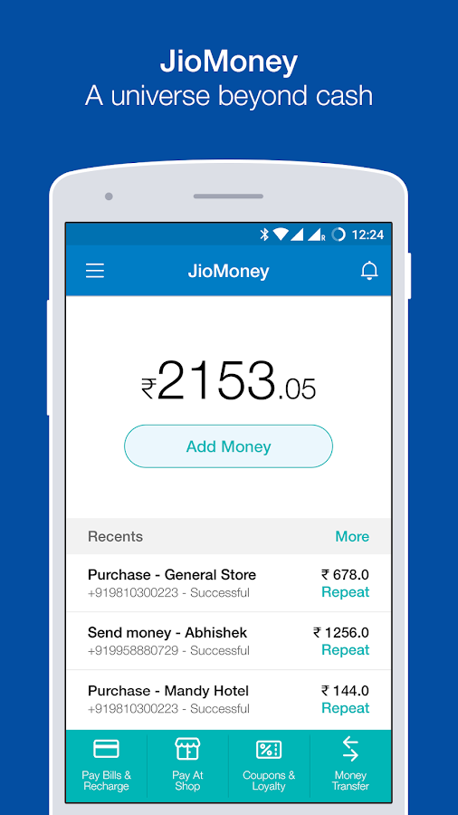 JioMoney Wallet- screenshot