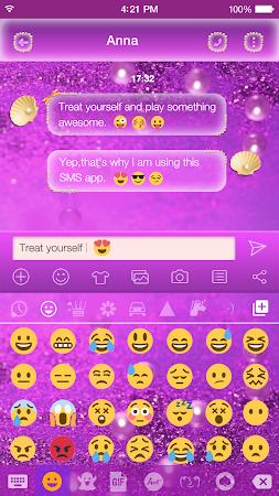 Glitter Pearl Keyboard Theme 1.0.2 screenshot 2086971