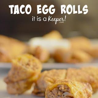 15 Minute Taco Egg Rolls