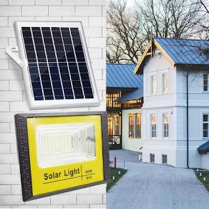 Proiector 40 W cu panou solar si telecomanda