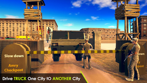 Army Truck Driving 3D Simulator Offroad Cargo Duty apkpoly screenshots 7