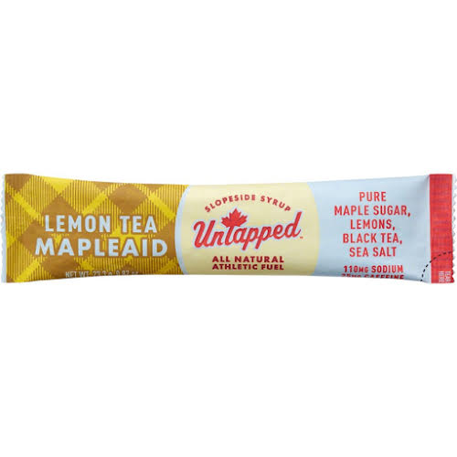 UnTapped Mapleaid Athlete Fuel Drink Mix: Lemon Tea, Box of 16 packets