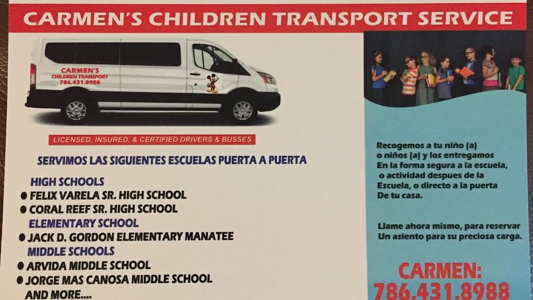 Carmen S Children Transport Service Transportation Service In Miami