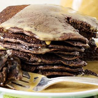 Yeast Raised Chocolate Chocolate Chip Pancakes | #BreadBakers.