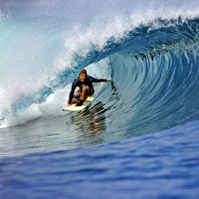 Surfing Panaitan by Paul Kennedy - Sports & Fitness Surfing ( indian ocean, extreme, surfing, water sport, surf )