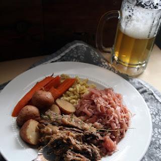 Sauerbraten with Spätzle and Braised Cabbage