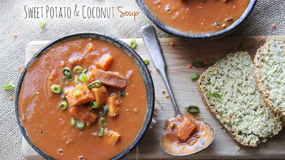 Sweet Potato Coconut Soup With Warming Spices
