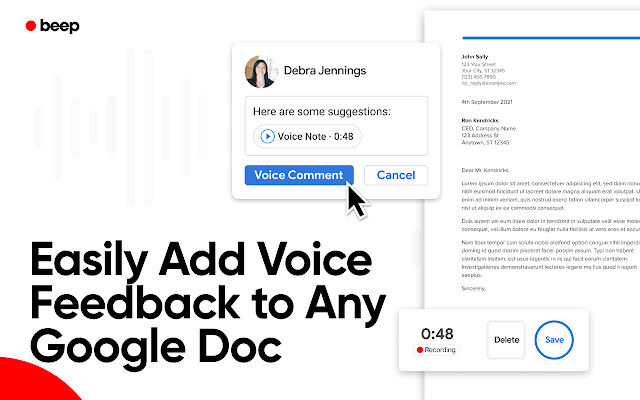 Record Voice Comments in Google Docs - Beep