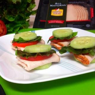 Susie's Cucumber Turkey Mini-Sandwiches.