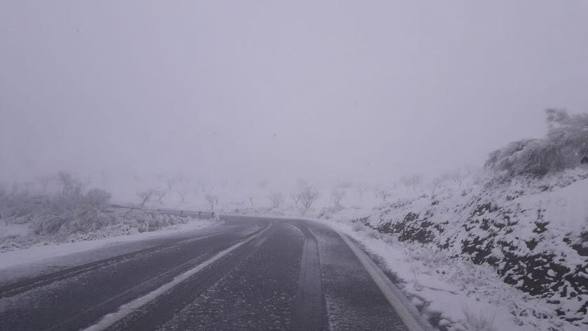 Imagen del temporal durante este jueves.
