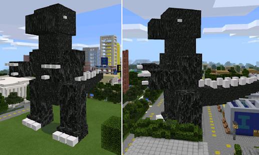 MOD BIG Godzilla for MCPE - náhled