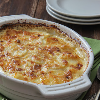 Four Cheese Garlic Scalloped Potatoes