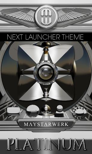 Next Launcher theme Platinium