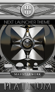 Next Launcher theme Platinium Screenshot