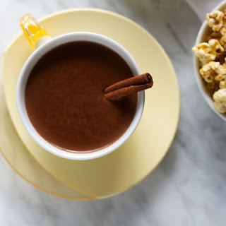 Cinnamon and Tequila Hot Chocolate Cocktails