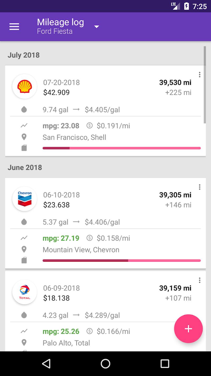 Fuelio: Gas log & costs Screenshot 5