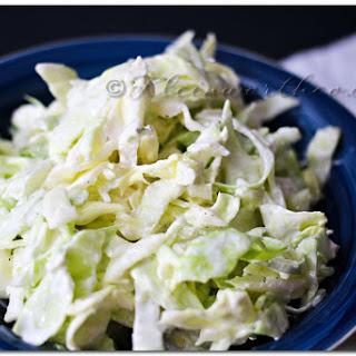 Garlic Cabbage Slaw {Recipe}