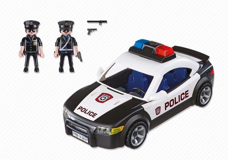 Contenido real de Playmobil® 5614 coche de Policía USA