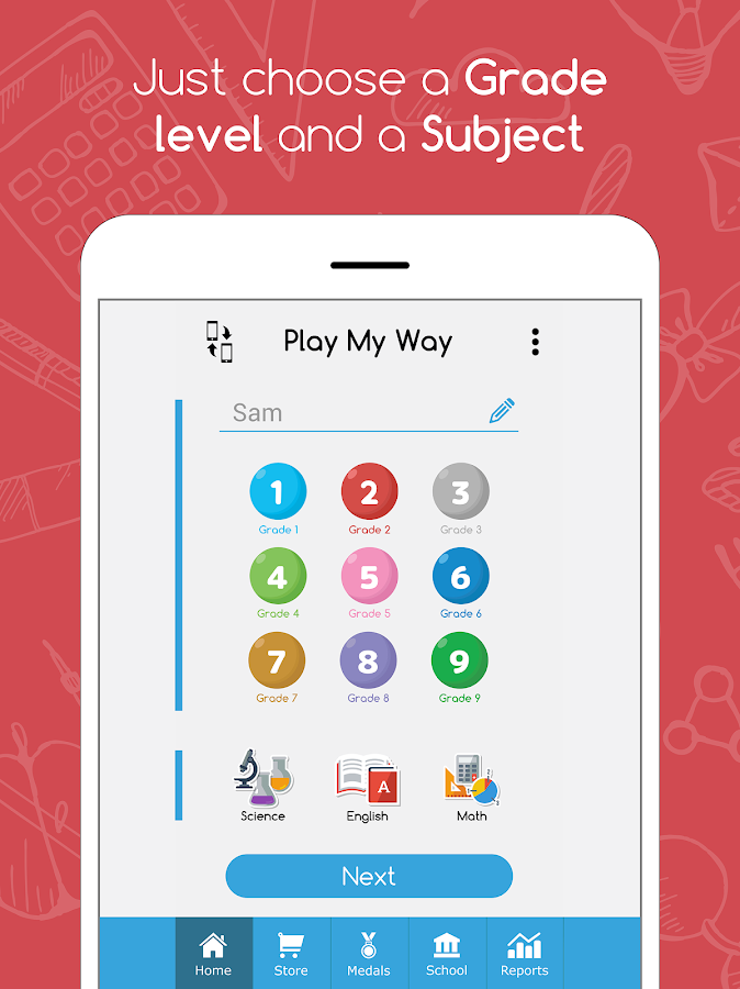 PlayMyWay:Education in games. Math-English-Science- screenshot