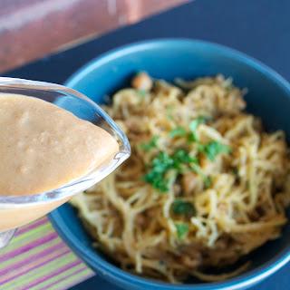 Spaghetti Squash with Thai Peanut Sauce.