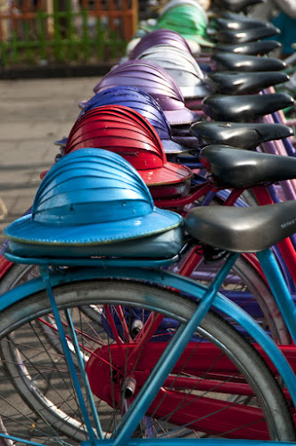 Hat and bicycles by Basuki Mangkusudharma - Artistic Objects Other Objects ( bicycles, old, hat )