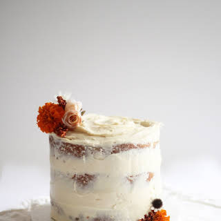 Buttermilk Spice Layer Cake with Brown Sugar Cream Cheese Frosting.