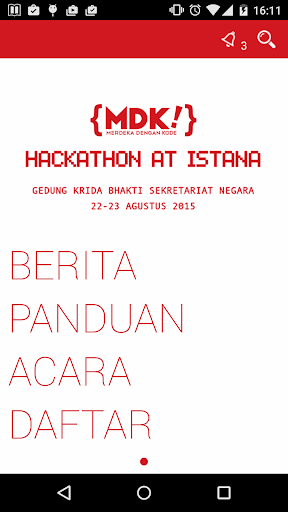 Hackathon at Istana