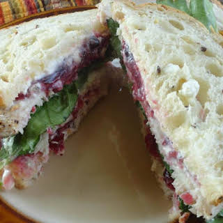 Turkey Cranberry Sandwich.