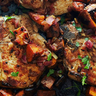 Maple Ginger Pork and Sweet Potatoes.