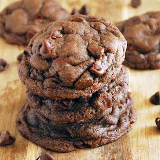 Whole Wheat Chocolate Fudge Cookies.