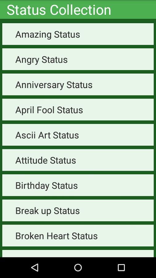 Best Status Collection - Android Apps on Google Play