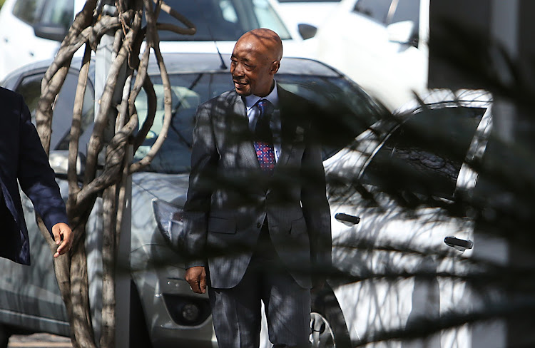 Sars Commissioner Tom Moyane arrives for a press conference in Illovo. Picture: ALON SKUY