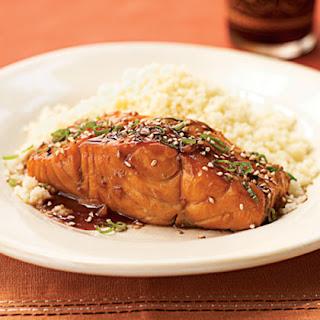 Bourbon-Glazed Salmon.