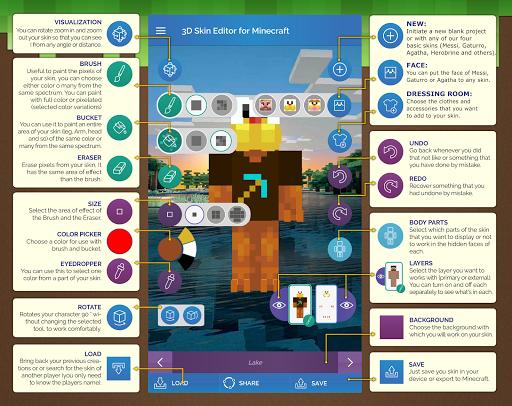 QB9's 3D Skin Editor for Minecraft 2.1.0 screenshots 8