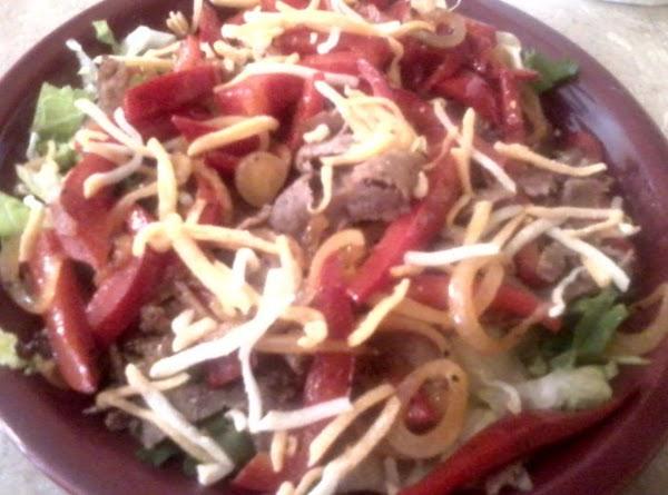 Steak-um Fajita Salad Recipe