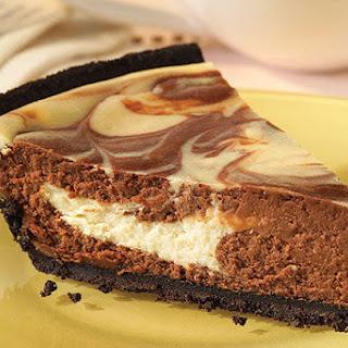 Chocolate Swirl Cheesecake.