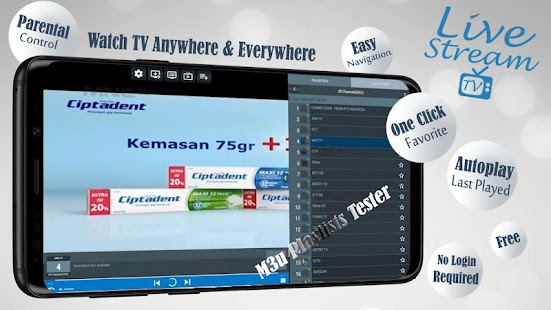 Livestream TV - M3U Stream Player IPTV Screenshot