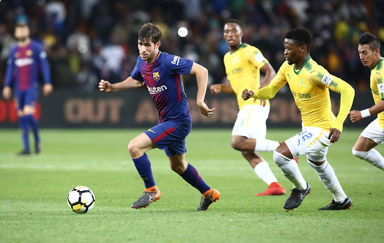Sergi Roberto of FC Barcelona in action during the Nelson Mandela Centenary  Challenge at the FNB 4cdc492913d