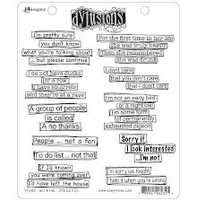 Dylusions Cling Stamps 8.5X7 - People...Not A Fan