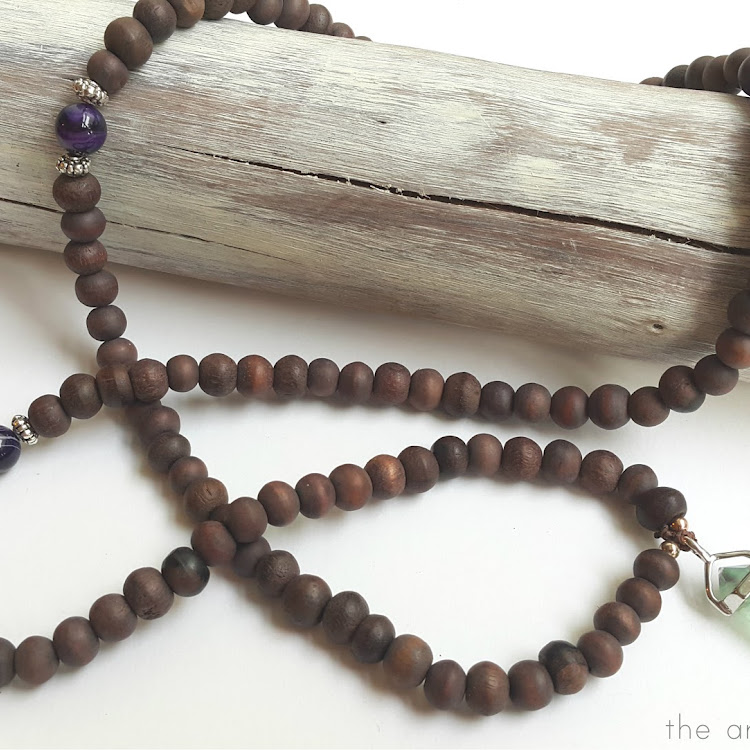 Fluorite Sono Bead Mala - Long Necklace by The Artsy Craftsy