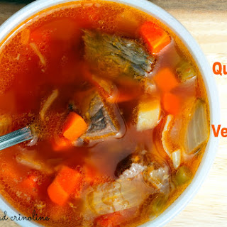 The Best Beef Vegetable Soup (from my Mom) ~ My Quick Version