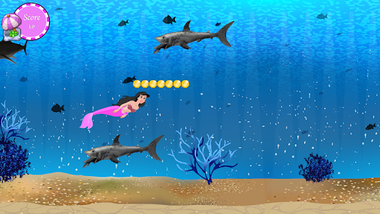 mořská panna Shark Attack - náhled