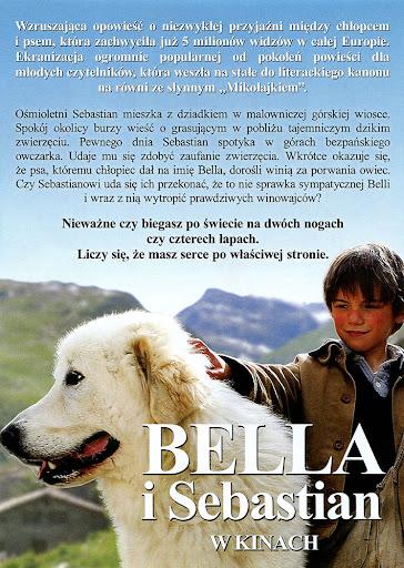 Tył ulotki filmu 'Bella i Sebastian'
