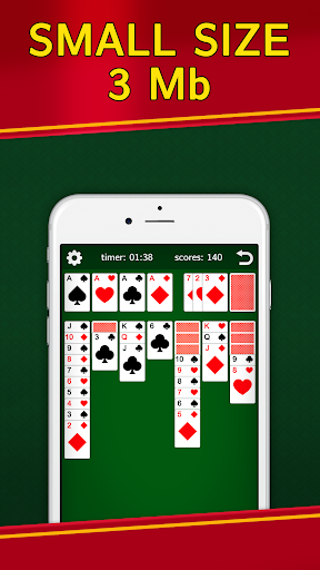 Classic Solitaire Klondike - No Ads! Totally Free!  captures d'u00e9cran 2